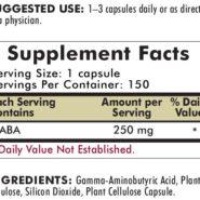 GABA 250 mg - Hypoallergenic - 150 capsules - INGREDIENTS