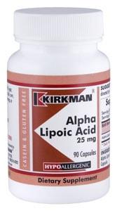Alpha Lipoic Acid 25 mg Capsules - Hypo 90 ct