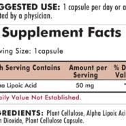Alpha Lipoic Acid 50 mg - Hypoallergenic - 90 capsules - INGREDIENTS