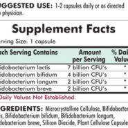 Bifido Complex™ Advanced Formula - Hypoallergenic - 60 capsules - INGREDIENTS