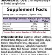 Calcium - Magnesium Liquid - 16oz / 473ml - INGREDIENTS