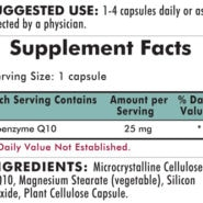 Coenzyme Q10 25 mg - Hypoallergenic - 250 Hypoallergenic capsules (25mg) - INGREDIENTS