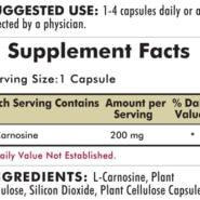 L-Carnosine 200 mg - Hypoallergenic - 90 capsules - INGREDIENTS