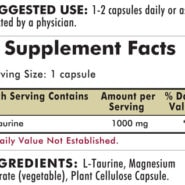 L-Taurine 1000 mg - Hypoallergenic - 100 capsules - INGREDIENTS