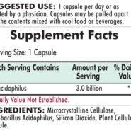Lactobacillus Acidophilus - Hypoallergenic - 120 capsules - INGREDIENTS