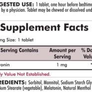 Melatonin Chewable Tablets - (1mg) 100 chewables - INGREDIENTS