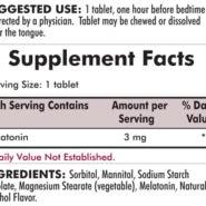 Melatonin Chewable Tablets - (3mg) 100 chewables - INGREDIENTS