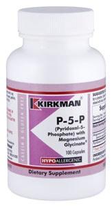 P-5-P (Pyridoxal 5-Phosphate, Vitamin B-6 Metabolite) with Magnesium Glycinate - Hypoallergenic - 100 capsules