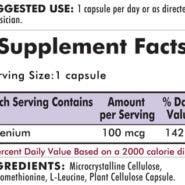 Selenium 100 mcg - Hypoallergenic - 100 capsules - INGREDIENTS