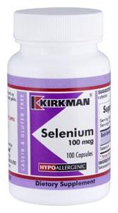 Selenium 100 mcg - Hypoallergenic - 100 capsules