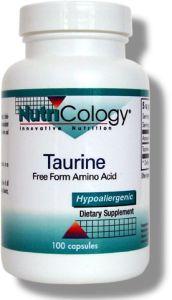 Taurine 500mg - 100 Veggie Capsules
