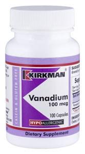 Vanadium 100 mcg - Hypoallergenic - 100 capsules