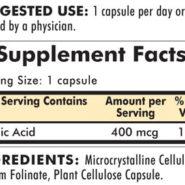 Folinic Acid 400 mcg - Hypoallergenic - 180 capsules - INGREDIENTS