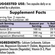 Calcium/Magnesium - Hypoallergenic - 120 capsules - INGREDIENTS