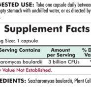 Saccharomyces Boulardii - 100 capsules - INGREDIENTS