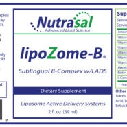 LipoZome B Complex Sublingual Liposome Spray - 2oz - INGREDIENTS