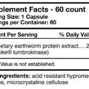 Boluoke Lumbrokinase - 60 capsules - ingredients