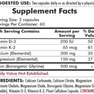 Bone Protect with Vitamin K - 120 capsules - ingredients