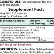 L. Reuteri Custom Blend with Prebiotic - 60 capsules